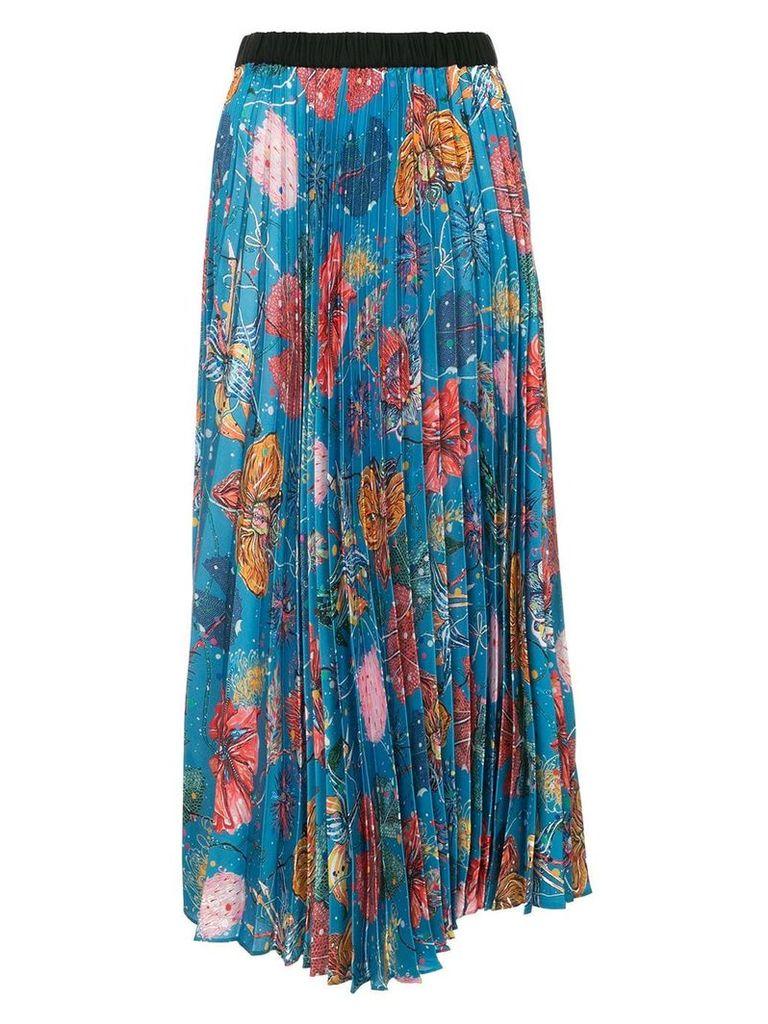Romance Was Born Feed My Flowers pleated skirt - Multicolour