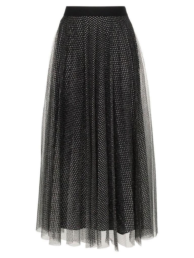 Christopher Kane metallic tulle pleated skirt - Black
