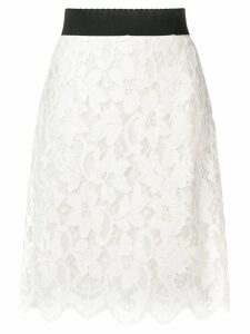 Dolce & Gabbana lace skirt - White