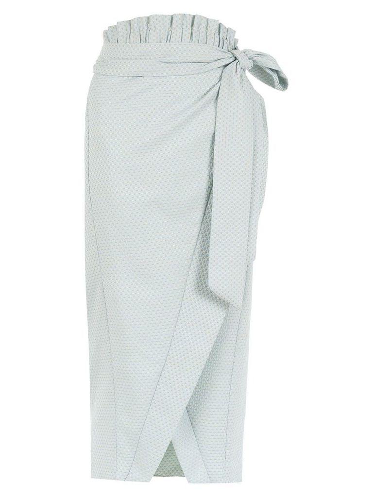Framed Candy Crush midi skirt - Blue