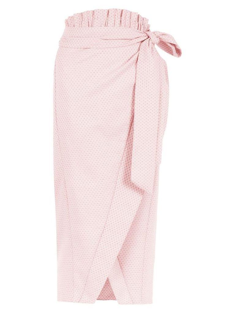 Framed Candy Crush midi skirt - Pink