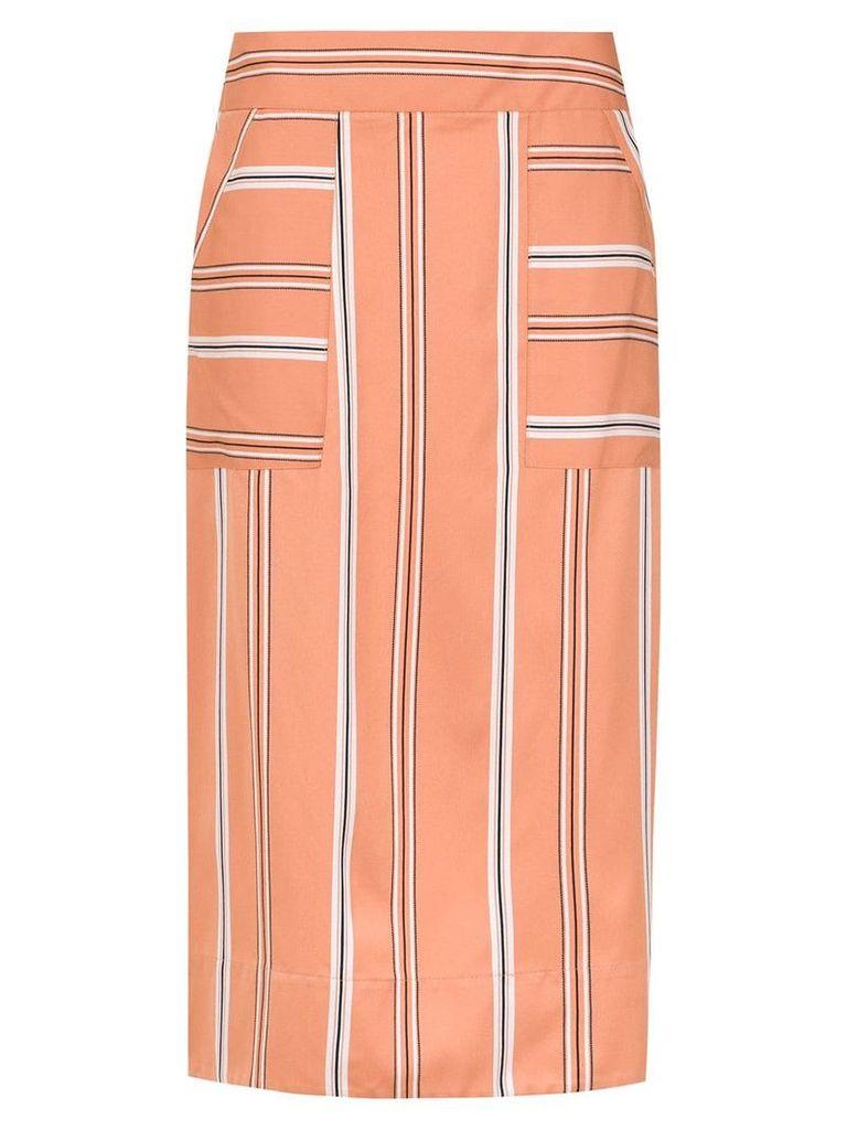 Olympiah striped Piaggia midi skirt - Orange