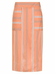 Olympiah striped Piaggia midi skirt - Orange