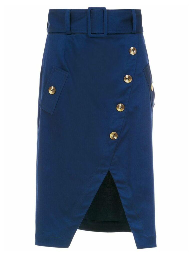 Olympiah Petri midi skirt - Blue