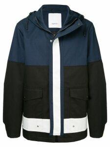 Ports V hooded coat - Black