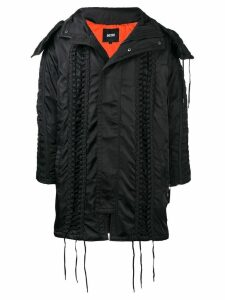 KTZ lace-up hooded parka - Black
