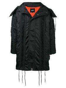 KTZ lace-up hooded parka - Black