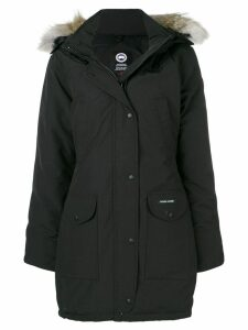 Canada Goose fur trimmed parka coat - Black