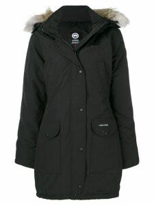 Canada Goose fur trimmed parka coat - Black