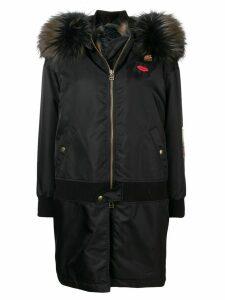 Mr & Mrs Italy hooded parka coat - Black
