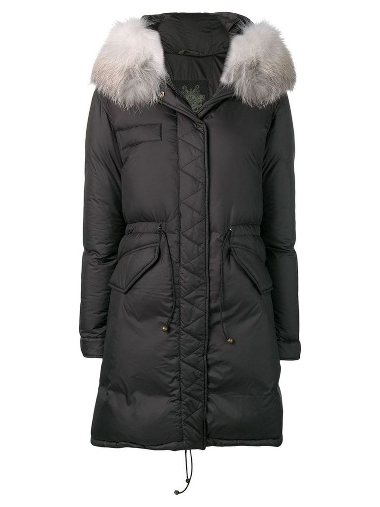 Mr & Mrs Italy fur-trim parka coat - Grey