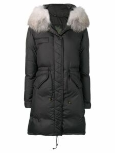 Mr & Mrs Italy fur-trim parka coat - Grey