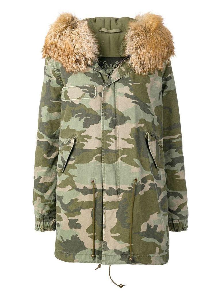 Mr & Mrs Italy camouflage parka coat - Green