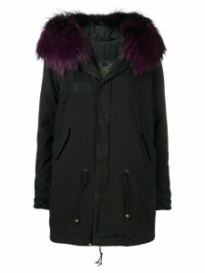 Mr & Mrs Italy hooded trimmed parka - Black