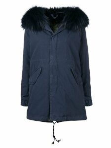 Mr & Mrs Italy hooded parka - Blue