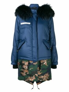 Mr & Mrs Italy layered puffer jacket - Blue