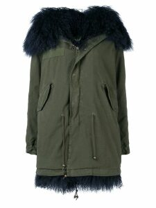 Mr & Mrs Italy fur trimmed parka - Blue