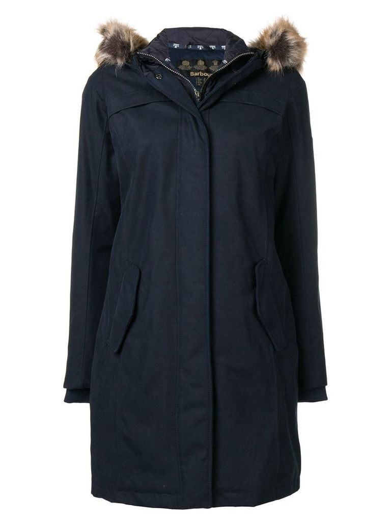 Barbour fur hood trim parka - Blue