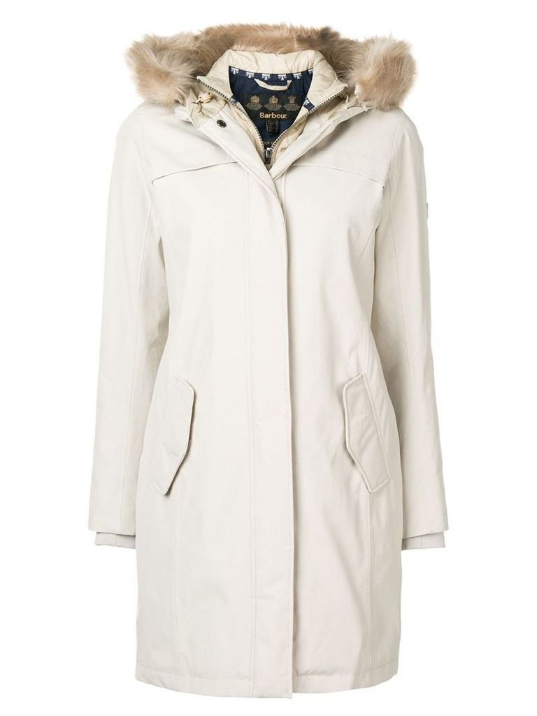 Barbour fur hood trim parka - Neutrals