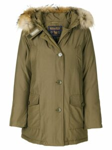 Woolrich fur trim hooded parka - Green