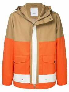 Ports V hooded coat - Brown