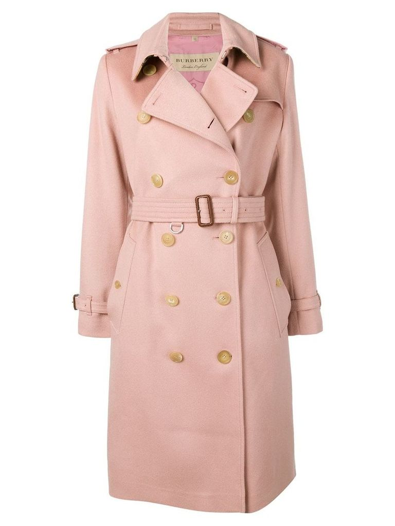 Burberry Cashmere Trench Coat - Pink