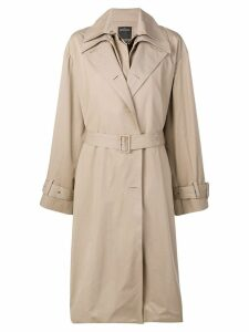 Rokh layered trench coat - Brown