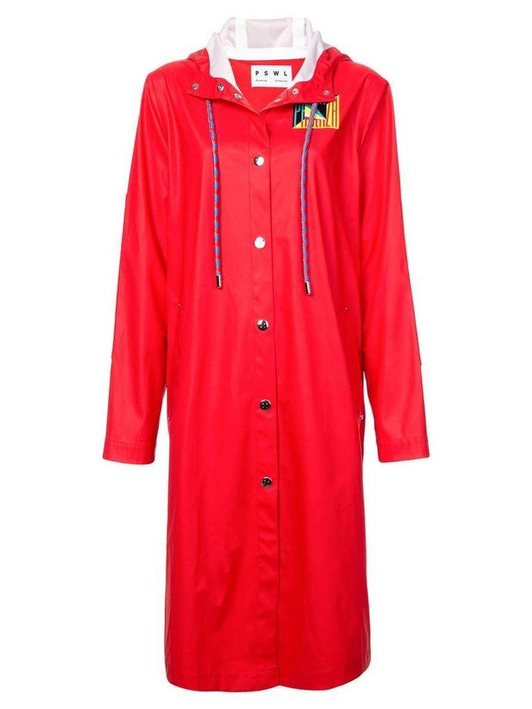 Proenza Schouler PSWL Rubberized Raincoat - Black