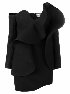 Saint Laurent off-the-shoulder mini dress - Black