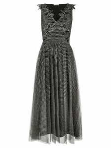 Christopher Kane metallic tulle pleated dress - Black