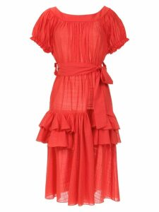 Clube Bossa ruffled Florenz dress - Red