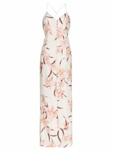 Zimmermann corsage orchid print maxi dress - Multicoloured