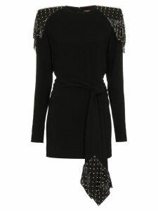 Saint Laurent studded chainmail dress - Black
