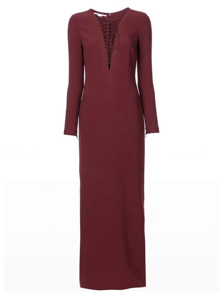 Stella McCartney lace-up gown - Red