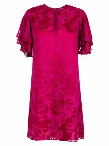 Tufi Duek silk shift dress - PINK