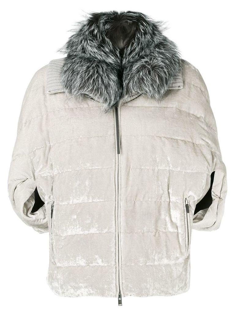 Fabiana Filippi oversized puffer jacket - Grey