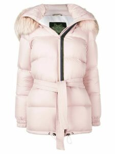 Mr & Mrs Italy hooded puffer jacket - Pink