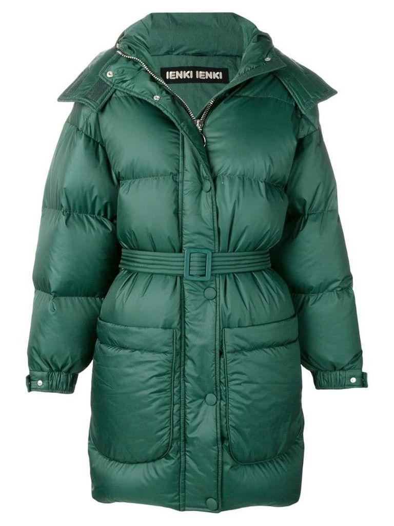 Ienki Ienki belted oversized padded jacket - Green