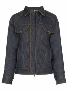 Rosie Assoulin reversible wool puffer jacket - Blue