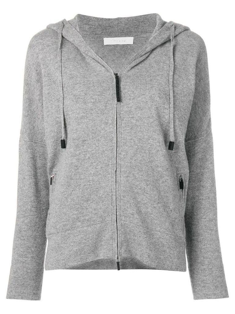 Cruciani zipped hooded sweater - Grey