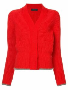 Eudon Choi knitted SHEILA CARDIGAN - Red