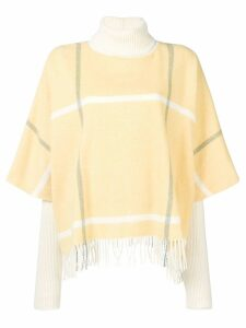 Roksanda check fringed jumper - Yellow