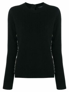 Marc Jacobs embellished fitted sweater - Black