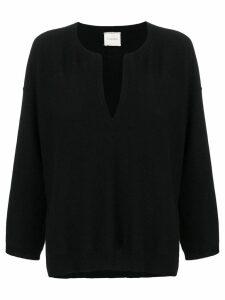 Fine Edge v-neck sweater - Black