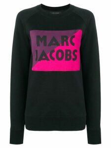 Marc Jacobs logo colour-block sweater - Black