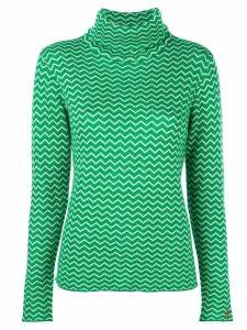 Perfect Moment Zigzag jumper - Green