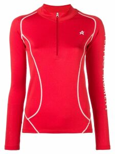 Perfect Moment Thermal half-zip jumper - Red