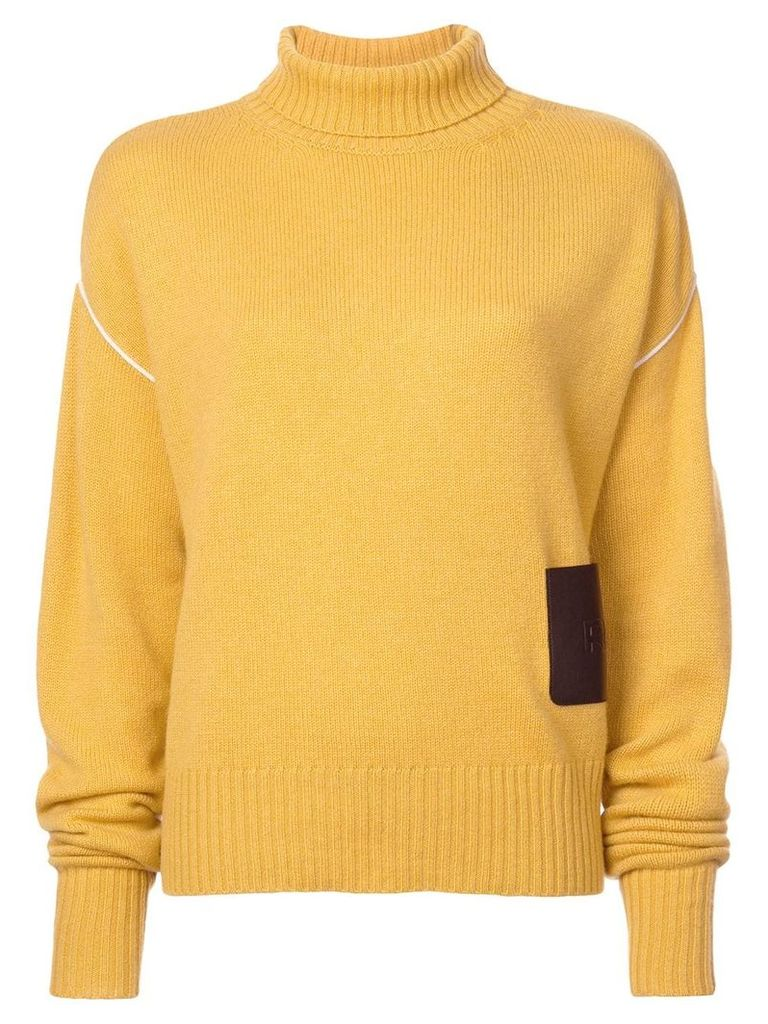 Rochas oversized turtleneck jumper - Yellow