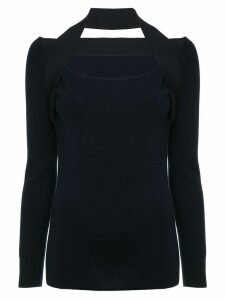 Dion Lee inter-layer fine knit sweater - Blue