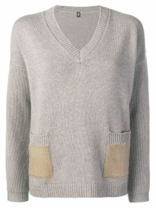 Eleventy v-neck knit sweater - Grey